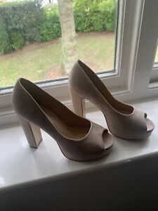 Suede Platform Shoes Blush Pink Size 7