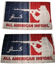 3x5 All American Infidel USA 2 Faced Double Sided 2-ply Polyester Flag