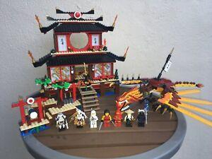 Lego Ninjago Fire Temple (2507) w/ Minifigures Dragon 97% Complete 2011