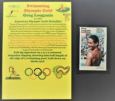 LOUGANIS GREG AMERICAN OLYMPIC GOLD MEDALS 1984 & 1988 SIGNED PICTURE