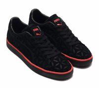 NIB Men's size 9 PUMA Suede Classic Lux Sneakers black 369219-01