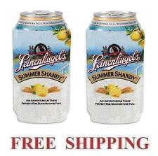 Leinenkugels 2 Summer Shandy 16oz Beer Can Coolers Koozie Coolie Pint Huggie New