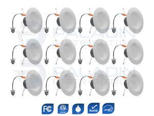 "6"" Inch LED Recessed Retrofit Trim Downlight - 3000K Dimmable ETL (12 Pack)"
