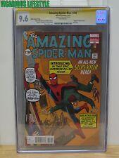 The Amazing Spider-Man #700 Marvel CGC 9.6 1:200 Ditko Variant Stan Lee Signed