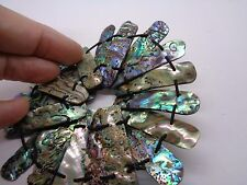 NATURAL ABALONE SHELL BRACELET PETRA PAULA? STRETCH BAND PARTY PROM FESTIVAL