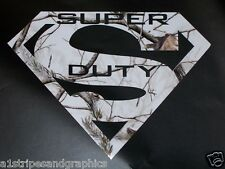 SUPER DUTY  REAL TREE WHITE CAMO Decal sticker  Diesel 4X4 F250 F350 Off Road