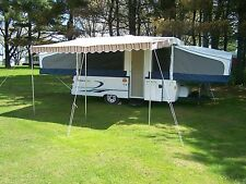 """VINTAGE DELUXE AWNING 11' 9"""" X 9' RUSTY BROWN"""