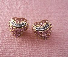 Auth Juicy Couture Pave heart stud earring $45 No Box