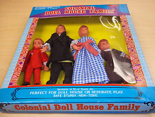 Vintage Colonial  Doll House Family Set by Shackman - 1:12 Scale MINT IN BOX