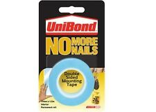 Unibond No More Nails - Double Sided Wall Hanging Mount Tape Roll BLUE Interior