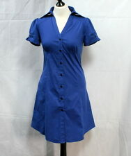 Petite robe chemise bleue t.38
