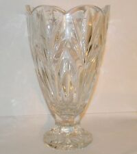 """Canterbury by Marquis WATERFORD Lead Clear Crystal Scalloped Footed Vase 8"""""""