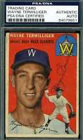Wayne Terwilliger 1954 Topps Psa Dna Coa Autograph Authentic Hand Signed