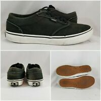 Vans Off The Wall Era Skate Shoes Sneakers Low Black/Grey Mens Size 8