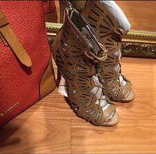 Zara Leather Wraparound High Heel Sandal