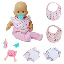 9x Baby Alive Doll Clothes Underwear Bibs Feeding Bottle Spoon For American Girl