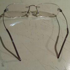 Titanium Eyeglasses RX Frames Rimless Glasses Metal Flex Light 50x17x140 Unisex
