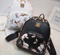 Women Backpack Girl School PU Leather Shoulder Bag Rucksack Canvas Travel bags