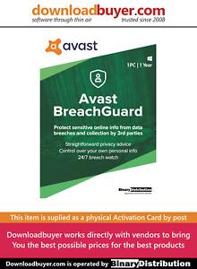 Avast BreachGuard 2021 - 1 PC - 1 Year [Activation Card]