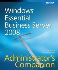 Windows Essential Business Server 2008 Administrator's Companion Admin Companio