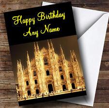 Milano Italia Italia personalizzata compleanno auguri carta