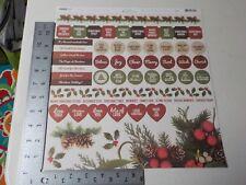 KAISERCRAFT BASECOAT CHRISTMAS 12X12 STICKER SHEET NEW A5941