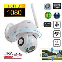 Wireless HD 1080P WiFi 5X ZOOM CCTV Outdoor IP Camera Home Security Webcam US