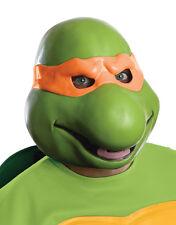 Michelangelo Máscara De Vinilo De 3/4, Para Hombre Accesorio Disfraz de Teenage Mutant Ninja Turtles