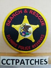 """ILLINOIS POLICE RESERVES SEARCH & RESCUE 3"""" (SMALL) SHOULDER PATCH IL"""