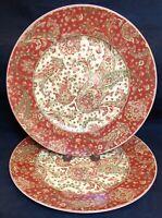 222 Fifth MAHARANA Dinner Plates 2 NEW EXCELLENT