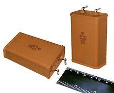2 pcs 1uF 1000V 5% PIO Audio Capacitors KBG-MN Vintage USSR NOS