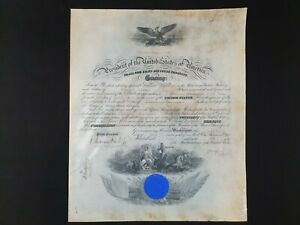 US President William Taft Signed Military Document Appointment Commission Letter