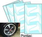 Pontiac Firebird Rally II Wheel Paint Mask Stencil Kit for 15 rim