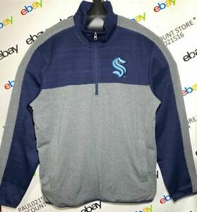 GIII SPORTS By CARL BANKS SEATTLE NHL Sweater, Gray ~ Size L