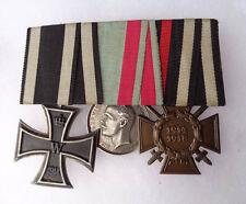 original  Spange mit Orden Hessen, EK II 1914 & Ehrenkreuz 14 18