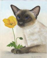 Cats Siamese/poppy Ltd.Edition canvas Fine Art Print Original Painting  Barratt