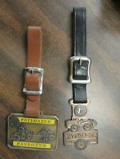 2 Paydozer Payloader & Payloader Design Award State Equip.Pa. Vintage Watch Fobs