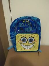 Nwt Spongebob Squarepants Do The Jelly Roll Blue Backpack-16 Inch