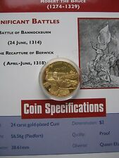 East Caribbean States ECCB 2004 Robert the Bruce $2 Gold Plated Piedfort Coin