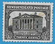 + 1931 Newfoundland NFLD St.Johns Colonial Building #181 A95 20c used