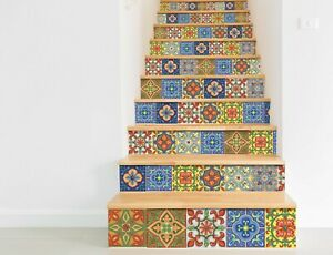 Traditional Spanish Tile transfers Stickers Vintage Victorian Moroccan Mosaic