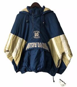 vintage notre dame starter jacket coat parka mens size XXL deadstock NWT 90s 🍀