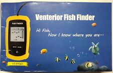 New Venterior Portable Fish Finder Fishfinder Wired Sonar w/ Sensor Transducer &