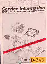 Deckel FP2NC, FP3 and FP4, With Dialog Control, Service Information Manual