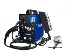 MIG130 Welder No Gas Flux Core Auto Wire Feed Portable Welding Machine Inverter
