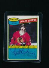 1980-81 Topps Scratched #27 Grant Mulvey Blackhawks Hockey signed autograph blue