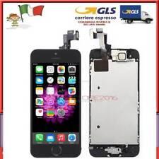 NERO DISPLAY PER IPHONE 5S ASSEMBLATO ORIGINALE SCHERMO LCD + Home Button Camera