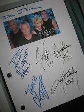 Stargate SG-1Signed TV Script X6 Richard Dean Anderson Michael Shanks Judge RPT