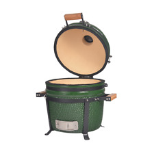 YNNI 15.7 inch Green Kamado Oven BBQ Grill Egg with Stand NEW MODEL TQ0015GR