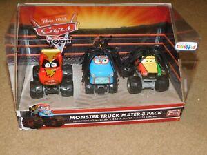 Disney Pixar Cars Monster Truck 3 Pack including Rasta Mater and Rasta Carian